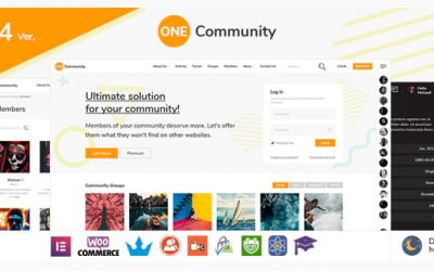 You are downloading OneCommunity - BuddyPress Nouveau Membership Theme whose current version has been getting more updates nowadays, so, please