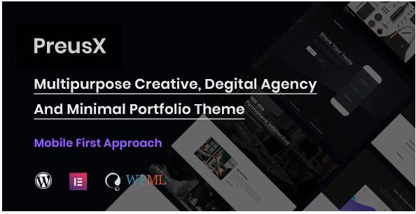 Download PreusX – Digital Agency And Portfolio WordPress Theme Nulled