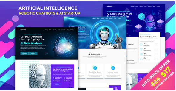 Download RoboGard – Chatbot & AI Startup Agency Template Nulled