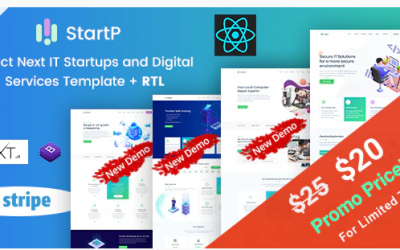 You are downloading StartP - React Next IT Startups and Digital Services Template whose current version has been getting more updates nowadays, so, please