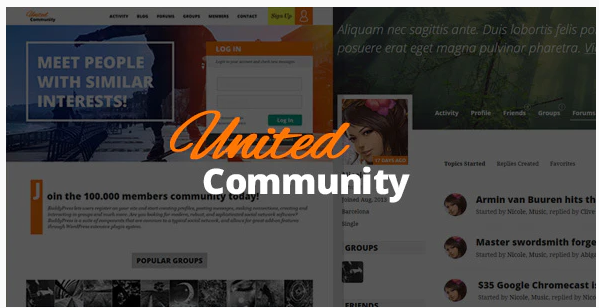 Download UnitedCommunity – BuddyPress Membership Theme Nulled
