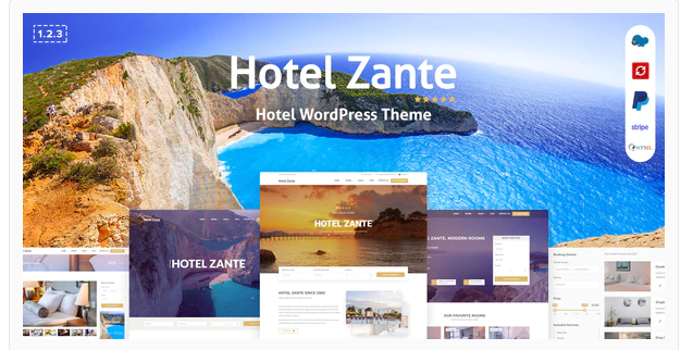 Download Zante Hotel Booking ThemeNulled