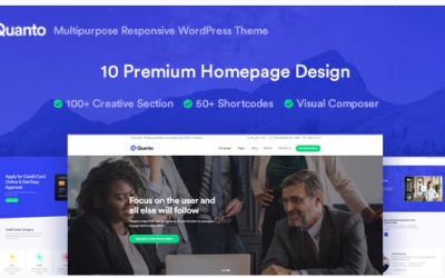 Quanto - Business Responsive WordPress Theme Nulled