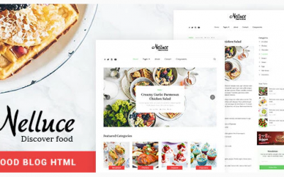 Nelluce - Responsive HTML5 Food Blog Template Nulled
