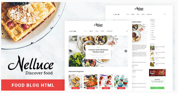 Download Nelluce – Responsive HTML5 Food Blog Template Nulled