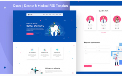 Donto I Dentist PSD Template Nulled