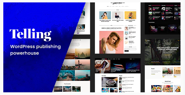 Download Telling – Multi-Concept News and Publishing Theme Nulled