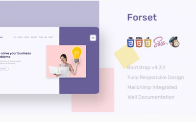 Forset Landing Page Template Nulled