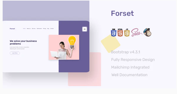 Download Forset Landing Page Template Nulled