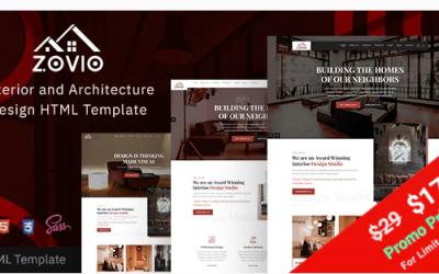 Zovio - Interior Design & Architecture HTML Template Nulled