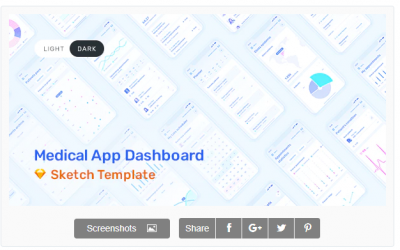 Medux – App Dashboard UI Kit for Sketch Nulled