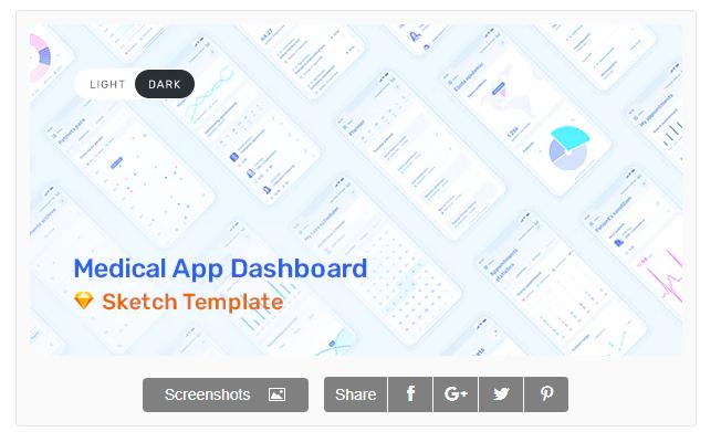 Download Medux – App Dashboard UI Kit for Sketch Nulled
