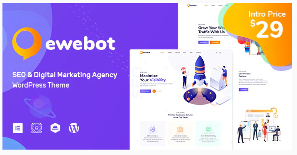 Ewebot - SEO and Digital Marketing Agency Nulled