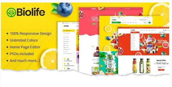 Download Biolife – Organix Shopify Theme Nulled