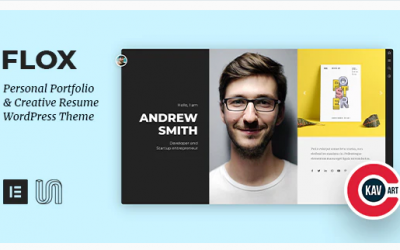 FLOX - Personal Portfolio & Resume WordPress Theme Nulled