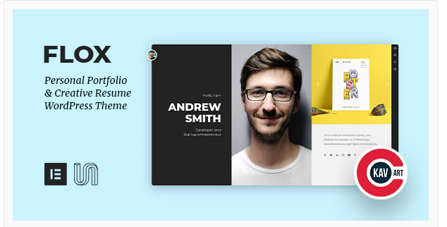 Download FLOX – Personal Portfolio & Resume WordPress Theme Nulled