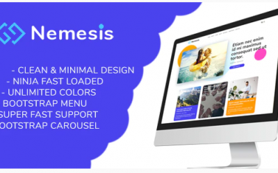 Nemesis | Responsive Minimal Blogger Theme Nulled