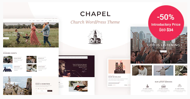 Download Chapel – Church Theme Nulled