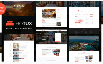Holux – Hotel PSD Template Nulled