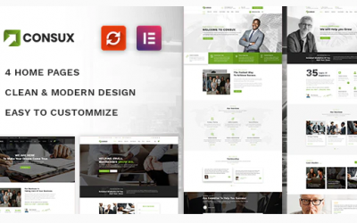 Consux - Business, Consulting WordPress Theme Nulled