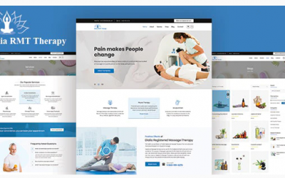 Dialia - Registered Massage Therapy Joomla Template Nulled