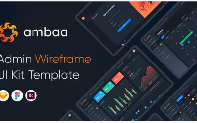 Ambaa - Admin Dashboard Wireframe Ui Kit Template Nulled