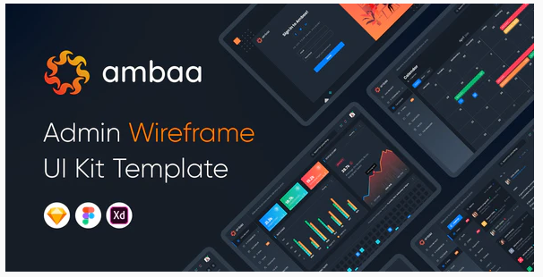 Ambaa - Admin Dashboard Wireframe Ui Kit Template Nulled