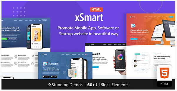 Download xSmart – App Landing Page Template Nulled