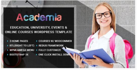 Download Academia – Education Center WordPress Theme Nulled