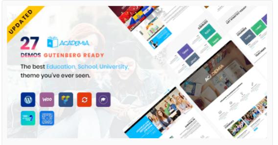 Download Academia – Education WordPress Theme Nulled