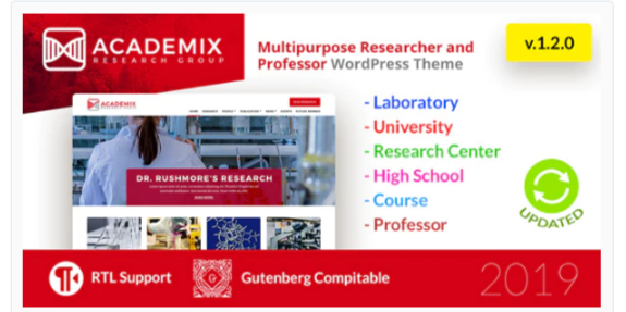 Download Academix – Multipurpose Education, Researcher and Professor WordPress Theme Nulled