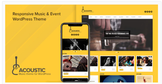 Download Acoustic – Premium Music WordPress Theme Nulled