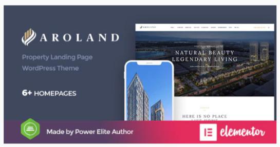 Download Aroland – Single Property Landing Page WordPress Theme Nulled