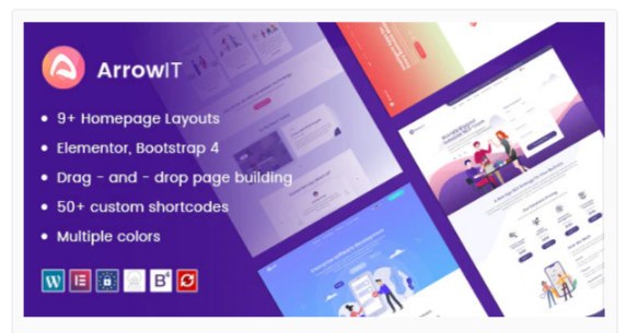 Download ArrowIT – Technology, Digital Transformation WordPress Theme Nulled
