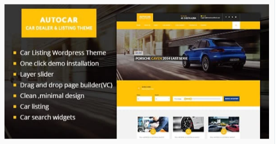 Download Auto Car WordPress Theme Nulled