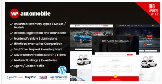 Download AutoMobile | Responsive Car Dealer WordPress Theme Nulled