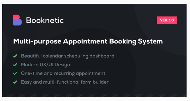 Download Booknetic – WordPress Appointment Booking and Scheduling system Nulled