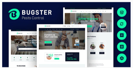 Download Bugster   Bugs & Pest Control WordPress Theme for Home Services Nulled