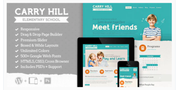 Download Carry Hill School – Education WordPress Theme Nulled