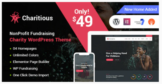 Download Charitious – NonProfit Fundraising Charity WordPress Theme Nulled