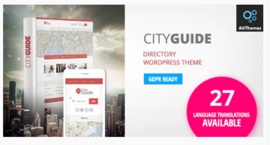 Download City Guide – Listing Directory WordPress Theme Nulled