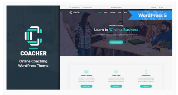 Download Coacher – Trainers & Life Coaching WordPress Theme + RTL Nulled