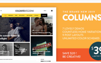 You are downloading Columns - Impressive Magazine and Blog theme Nulled whose current version has been getting more updates nowadays, so, please