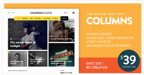 Download Columns – Impressive Magazine and Blog theme Nulled