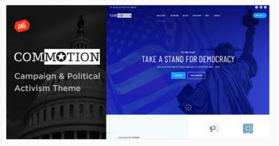 Download Commotion – Campaign & Political Activism Theme Nulled