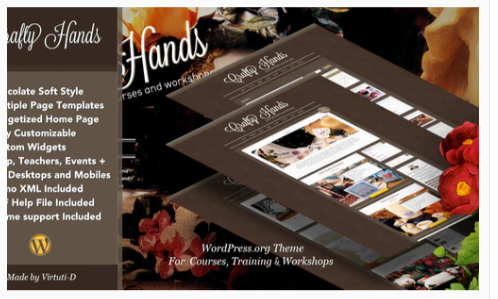 Download crafty Hands–Courses, Training, Workshops WP Theme Nulled