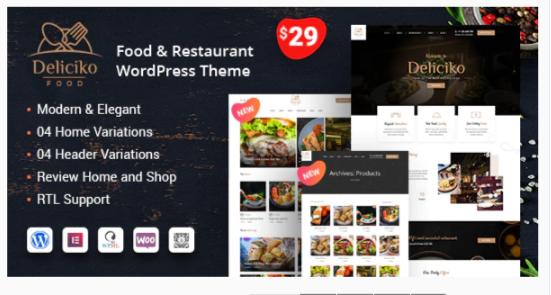 Download Deliciko – Restaurant WordPress Theme Nulled