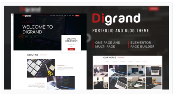 Download Digrand – Portfolio And Blog Theme Nulled