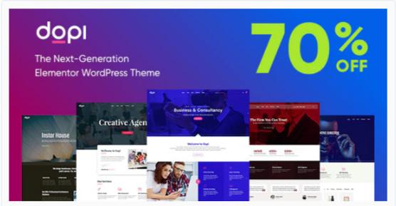 Download Dopi – Elementor MultiPurpose WordPress Theme Nulled
