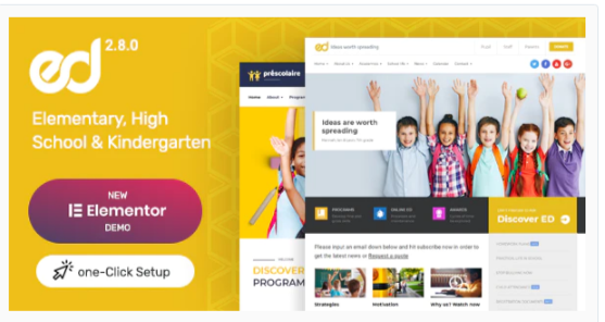 Download Ed School: Education WordPress Theme Nulled